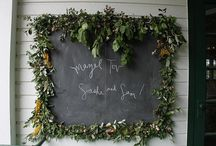 Inspiration {Chalk boards & signs} / by Little Gray Station - Wedding and Event Design