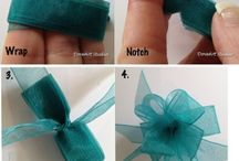 Ribbon's and more / Crafty ideas with ribbons and more