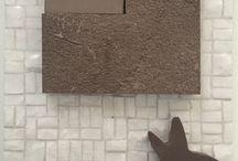 Composizioni Domenico Mori / Composizioni di argille, cotti e craquelè interamente realizzati a mano.