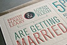 Letterpress Design Inspiration / Designer Inspiration -- Letterpress Wedding Invitation Design