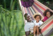 Rodinné hojdanie / Rodinné hojdacie siete a závesné kreslá v praxi.