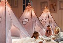 Festa do pijama com cabanas