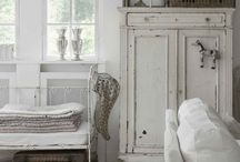 Home Sweet Home / Shabby chic, rustic, white, natural, cottage, prairie, country living, rugged, wood, leather, homey.  / by Solange Hooks