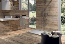 Badkamer hout /beton