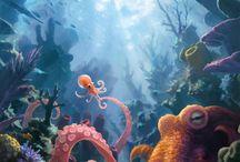 painting aquarium