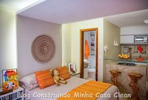 Kitnet Moderno! / Veja + Inspirações e Dicas de decoração no blog!  www.construindominhacasaclean.com