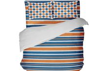 College and NFL Team Colors Stripe Bedding