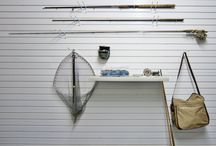 Fishing Storage in the Garage / Ways to store fishing items in the residential garage.