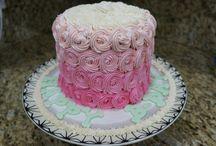 Torta sfumature di rosa