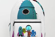 BOT BAGS / Teddybots bags for kids. Customised backpacks and Tote bags.