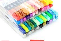 canetas e lápis/lápis de cor e giz de cera