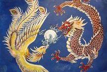tatoo dragon y fenix