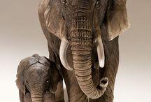 african animals sculptures