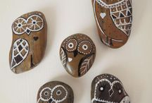 Pebble Art / Painted stones, art and craft using pebbles