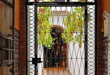 DOORS, IRON DOORS, ENTRANCE / Landscape entryway, garden doors, iron doors