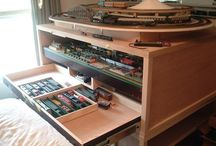 Model Trains / My son's model train obsession deserves a board!