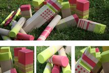 Kubb Sets of Awesomeness / Photos of various kubb sets illustrating creative paint/style/FUN!!!
