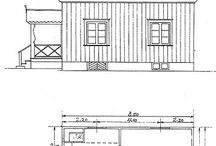 Egnahemträdgården / Friliggande hus, avsedda för en familj. Traditionell svensk småstad med låga trähus, plank och hägnade, privata trädgårdar. Staket ut mot gatan cirka 1,5 meter högt och med msorgsfullt utformad grind. Rätvinklig planlösning. Entréträdgård. Husbehovsodling. Grusgångar. Fruktträd i rutsystem. Berså. Flaggstång. / by Trädgårdsakademin