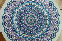 My finished Mandala's / Love to color mandala's and mandala style drawings!