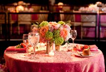 Shimmer and Crinkle / Weddings and events showcasing crushed shimmer and crinkle taffeta tablecloths, also featuring other design inspiration