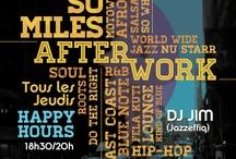 So Miles AfterWork  / So Miles - Djoon - Tous les Jeudis au Djoon: L'after work Atypique dans l'esprit New-Yorkais. * 18h30 - 21h Ambiance  World Wide – Afro Beat - Hip Hop Jazz * 21h15 - 01 h Ambiance Club Hip Hop Jazz – Soul et R&B - by Dj Jim (Jazzeffiq) Milesfender présente en partenariat avec 90 BPM, So Miles au Djoon chaque Jeudis de 18h30 à 1 h . L'after work Atypique dans l'esprit New-Yorkais Faites un aller retour Paris - New York en une soirée avec So Miles.