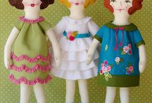 Dolls: All fabric, Fun / Happy, child-like