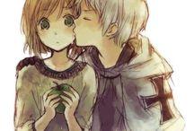 niedlichen Anime-Paare