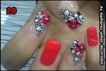 Unhas flores