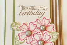 Birthday Blossoms Card Ideas / by Laurie Graham: Avon Rep/Stampin' Up! Demo
