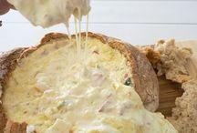 cob bread dips