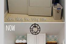 Ideas for a small Bathroom & a small Laundry Room / by Sandra Fields Graham