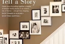 staircase wall decorating with pictures / by holly lock