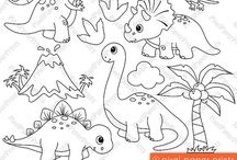 Art & Doodles - Animals - Dinosaurs / by Heather R