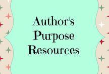 Author's Purpose Resources