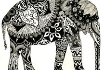 Art - Lines and colors (zentangle, collaborative etc.)