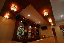 Bar/Man Cave / Custom bar and television room