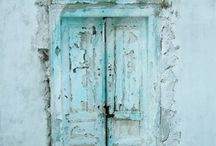 Portals / A door or a passageway to somewhere else......an initiation, new discoveries, new pleasures.....transitions. The door itself, a protector of privacy and a canvas for the art of the maker and the embellisher.