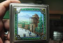 Very Rare Vintage Painted and carving King s SILVER BOX