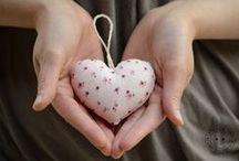 cuore stoffa