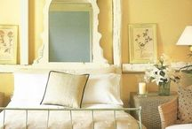 pale lemon country bedrooms