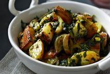 Indické brambory se špenátem