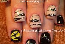 Halloween nail art / paznokcie, wzorki, zdobienia, manicure, nails, nail art, nail design,