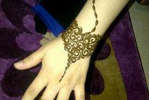 Mehendi / Arte em Henna de Origem Indiana, comummente usada em noivas.