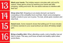 Healthy Holidays / Being healthy over the Holidays is hard... tips and recipes to help!