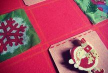 I miei addobbi di natale / Addobbi di natale di carta, di stoffa, di carta riciclata, di stoffa riciclata, con bottoni, con fiori di stoffa. #natale #weihnachten #noel #christmas