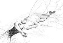 Human Sketches art work by Hector Prado / Pencil drawings