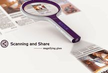 Scanning and Share Magnifying Glass Concept