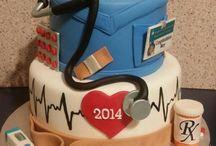 Graduation medical cake