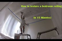 How to texture a bedroom ceiling in 15 minutes!