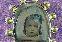 Mourning and miniatures / Mourning jewelry, memento mori, hair, jet, miniature portraits / by Marika Francisco